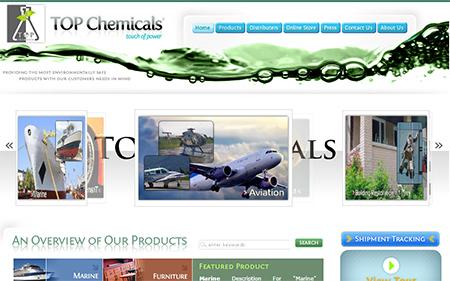 طراحی سایت شرکت کانادایی تاپ شیمی