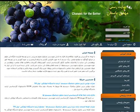 طراحی سایت استاد باستان